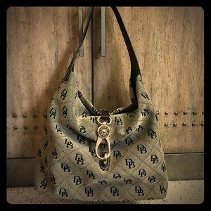Dooney & Burke Florentine Logo Lock Shoulder Bag